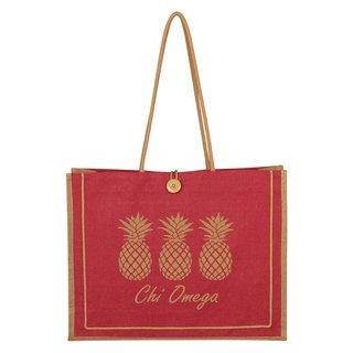 Chi Omega Paradise Jute Bag