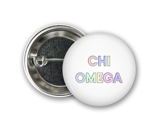 Chi Omega Pastel Letter Button