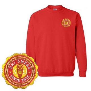Chi Omega Patch Seal Sweatshirt
