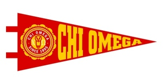 Chi Omega Pennant Decal Sticker