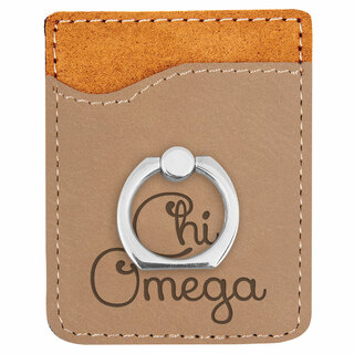 Chi Omega Phone Wallet with Ring