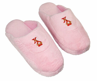 DISCOUNT-Chi Omega Pink Solid Letter Slipper