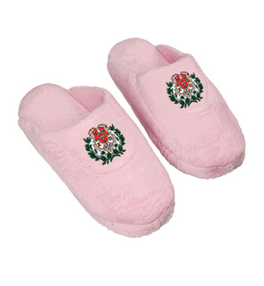 DISCOUNT-Chi Omega Pink Solid Slipper