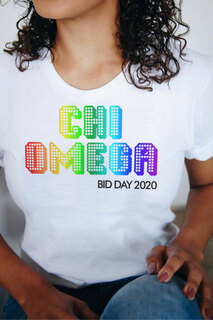 Chi Omega Pixel Tee - Comfort Colors