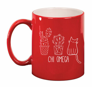 Chi Omega Purrrfect Sorority Coffee Mug