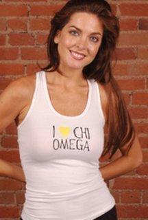 Chi Omega Racer Back - Heart Tank Top