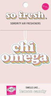 Chi Omega Retro Air Freshener (2 pack)