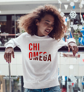 Chi Omega Ripped Favorite Crewneck