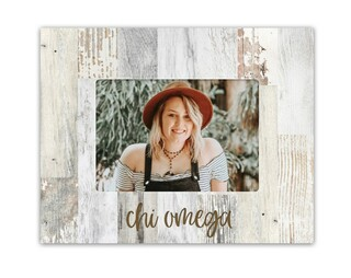 Chi Omega Rustic Picture Frame