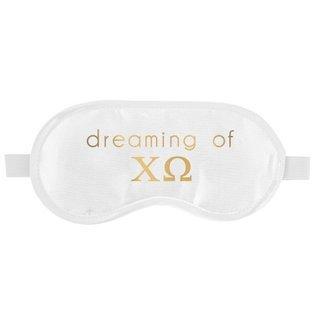 Chi Omega Satin Sleep Masks
