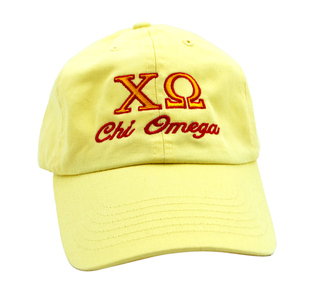 Chi Omega Script Cap