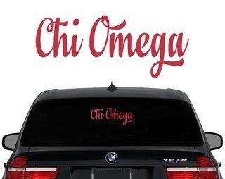Chi Omega Script Decal
