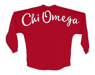 Chi Omega Script Jersey