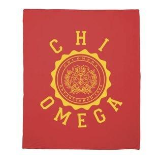 Chi Omega Seal Fleece Blanket