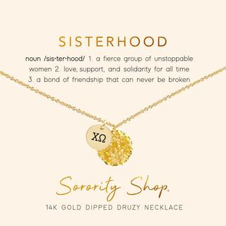 Chi Omega Sisterhood Druzy Necklace