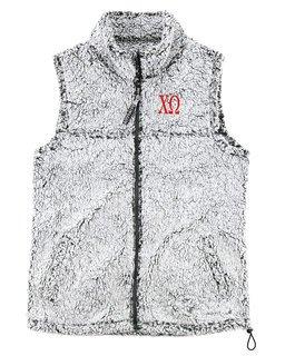 Chi Omega Smoky Grey Sherpa Vest