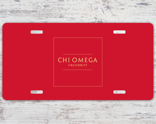Chi Omega Sorority Logo License Cover