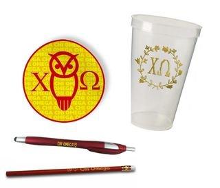 Chi Omega Sorority Mascot Set $8.99