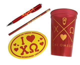 Chi Omega Sorority Love Set $8.95