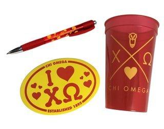Chi Omega Sorority Medium Pack $7.50