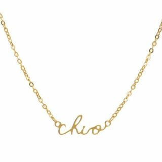 Chi Omega Sorority Script Necklace