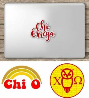 Chi Omega Sorority Sticker Collection - SAVE!