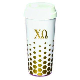 Chi Omega Sparkle Coffee Tumblers