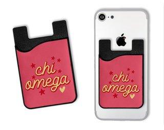 Chi Omega Star Card Caddy