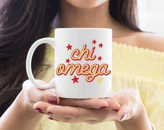 Chi Omega Star Mug