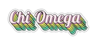 Chi Omega Step Decal Sticker