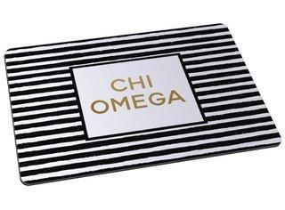Chi Omega Striped Mousepad