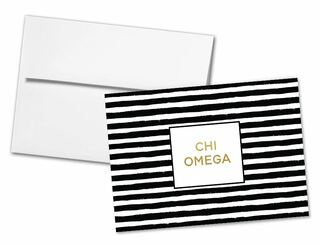 Chi Omega Striped Notecards(6)