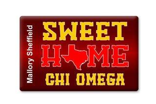 Chi Omega Sweet Home Ceramic Magnet