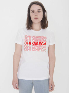 Chi Omega Thank You For Shopping Tee - Comfort Colors