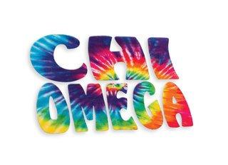 Chi Omega Tie-Dye Stack Sticker