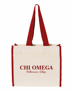 Chi Omega Tote with Contrast-Color Handles