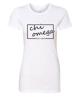 Chi Omega Triblend Short Sleeve Box T-Shirt