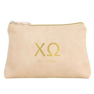 Chi Omega Vegan Leather Cosmetic Bags