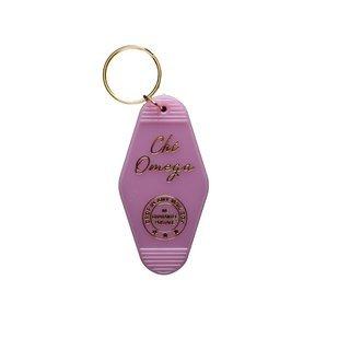 Chi Omega Vintage Motel Keychain