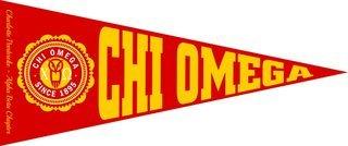 Chi Omega Wall Pennants