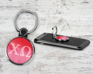 Chi Omega Water Color Phone Ring