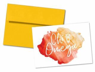 Chi Omega Watercolor Script Notecards(6)