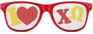Chi Omega Wayfarer Style Lens Sunglasses