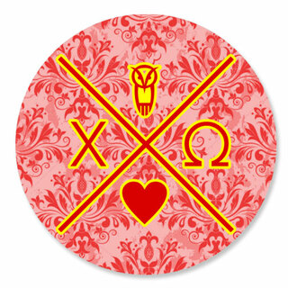 Chi Omega Well Balanced Round Decals