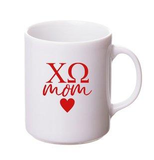 Chi Omega White Personalized Coffee Mug