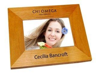 Chi Omega Mascot Wood Picture Frame