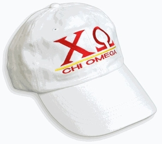 Chi Omega World Famous Line Hat - MADE FAST!