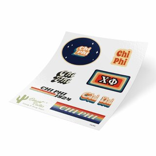 Chi Phi 70's Sticker Sheet