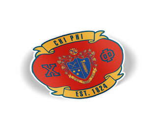 Chi Phi Banner Crest - Shield Decal