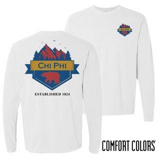 Chi Phi Big Bear Long Sleeve T-shirt - Comfort Colors